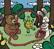 Teddy Bear and Bunny - Jump Rope by Brett Gilbert