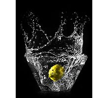 Lemon submerged in water Photographic Print