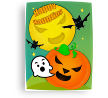 Halloween Happy Haunting  Canvas Print
