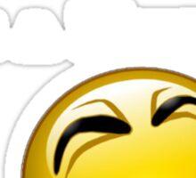 I M Happy, U R Ugly (white) Sticker