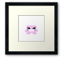 Bandage Girl Pixels Framed Print