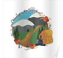 The Mountains Are Calling - Hike Poster