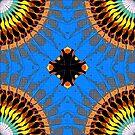 Abstract Blue Mandala Pattern by Phil Perkins