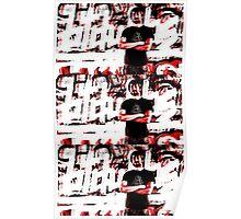 "btdubbs ""GRAFFITI RED"" design Poster"