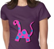 Poppi the Pink Dinosaur Womens Fitted T-Shirt