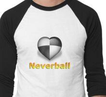 Neverheart (White) Men's Baseball ¾ T-Shirt