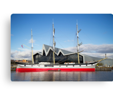 Tall Ship and Riverside Museum, Glasgow Canvas Print