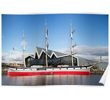 Tall Ship and Riverside Museum, Glasgow Poster