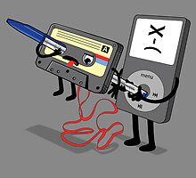 Killer Ipod Clipart (Murder of Retro Cassette Tape ) by Creative Spectator