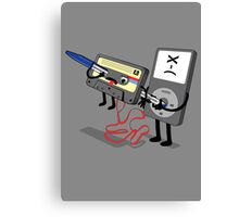 Killer Ipod Clipart (Murder of Retro Cassette Tape ) Canvas Print