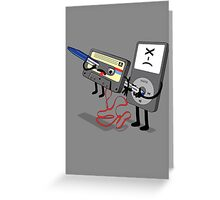 Killer Ipod Clipart (Murder of Retro Cassette Tape ) Greeting Card