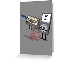 Killer Ipod Clipart (Murder of Retro Cassette Tape ) Greeting Card