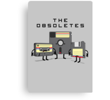 The Obsoletes (Retro Floppy Disk Cassette Tape) Canvas Print