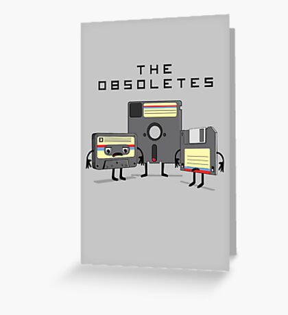 The Obsoletes (Retro Floppy Disk Cassette Tape) Greeting Card