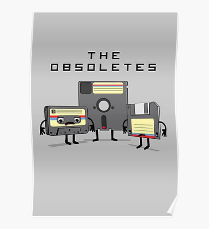 The Obsoletes (Retro Floppy Disk Cassette Tape) Poster