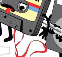 Killer Ipod Clipart (Murder of Retro Cassette Tape ) Sticker
