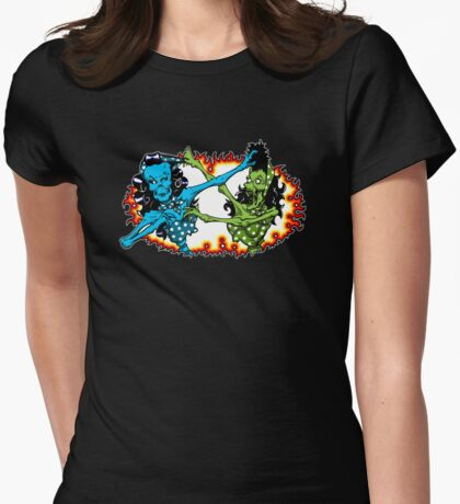 Psychobilly catfight Womens Fitted T-Shirt