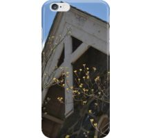 Wooden Cross on Stone Church  iPhone Case/Skin