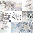 2013, white christmas collage by Delphimages