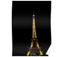 Eiffeltower at 1 a.m. Poster