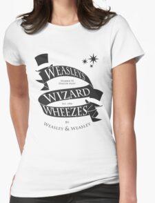 Weasleys' Wizard Wheezes (B&W) Womens Fitted T-Shirt