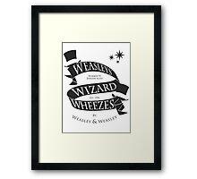 Weasleys' Wizard Wheezes (B&W) Framed Print