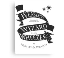 Weasleys' Wizard Wheezes (B&W) Canvas Print