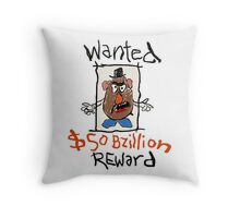 Wanted Reward  Throw Pillow