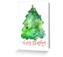 Greeting Card Christmas tree Greeting Card
