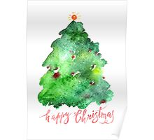 Greeting Card Christmas tree Poster