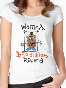 Wanted Reward  Women's Fitted Scoop T-Shirt