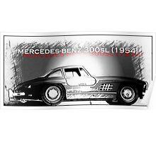 Mercedes-Benz 300SL (1954) Poster