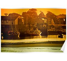 Sunset Harbour Poster