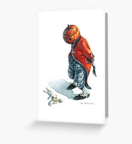Jack O'Lantern - Naughty Rabbit Greeting Card