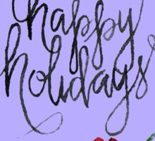 Greeting Card Christmas lettering Sticker