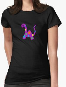 Party Dino Womens Fitted T-Shirt
