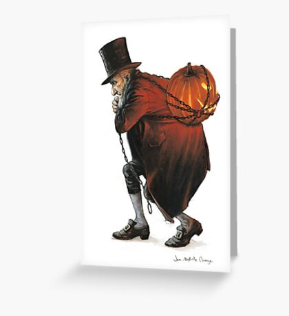 The Bogeyman and the Pumpkin Greeting Card