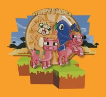 Mister Stampy Cat and Ballistic Squid riding piggies by ladyjiles