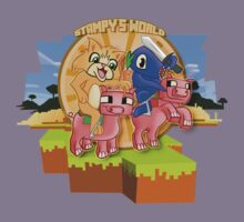 Mister Stampy Cat and Ballistic Squid riding piggies Kids Tee