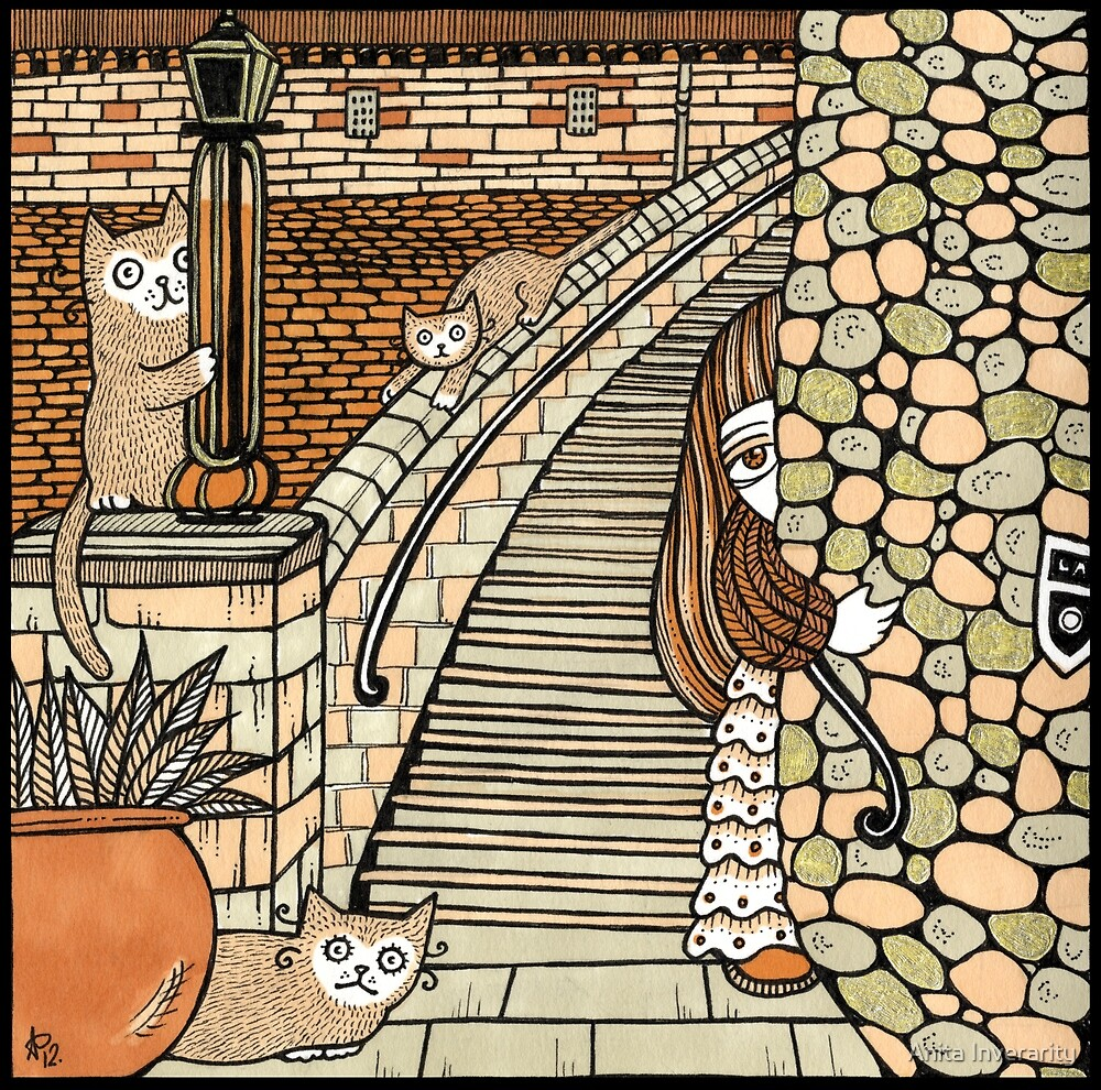 Lauries Lookouts (Lang Stairs) by Anita Inverarity