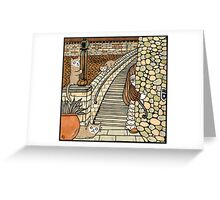 Lauries Lookouts (Lang Stairs) Greeting Card