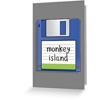Monkey Island Retro MS-DOS/Commodore Amiga games Greeting Card