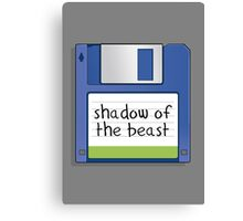 Shadow of the beast Retro MS-DOS/Commodore Amiga games Canvas Print