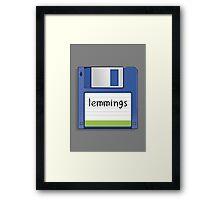 Lemmings Retro MS-DOS/Commodore Amiga games Framed Print