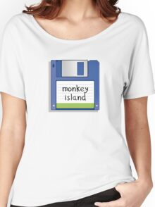 Monkey Island Retro MS-DOS/Commodore Amiga games Women's Relaxed Fit T-Shirt