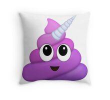 Purple Unicorn Poop Emoji Throw Pillow