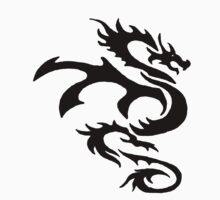 Dragon Outline by Michael Hollinshead