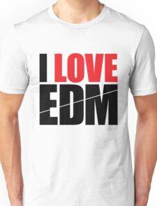 I Love EDM (Electronic Dance Music)  [black] Unisex T-Shirt