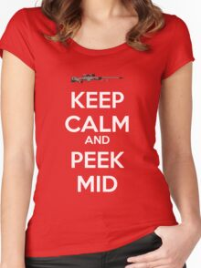 CSGO - Keep Calm And Peek Mid Women's Fitted Scoop T-Shirt