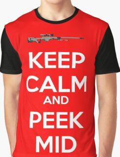 CSGO - Keep Calm And Peek Mid Graphic T-Shirt